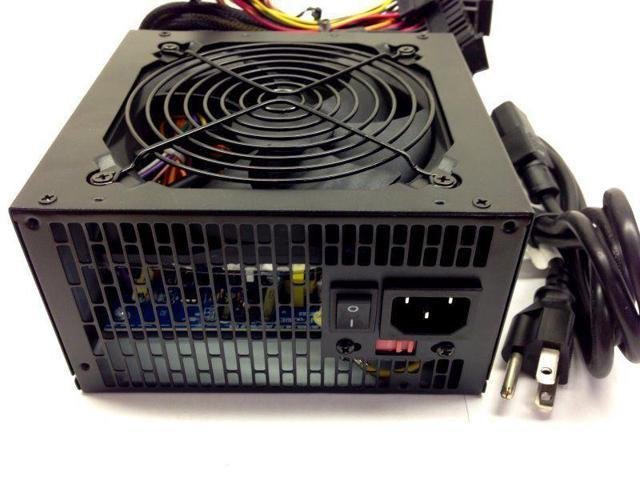 Quiet 750W for Intel AMD PC ATX Power Supply SATA PCI-E 120MM Large Fan Black