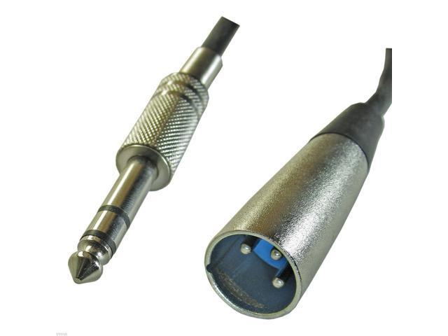 Muziekinstrumenten 50FT 3 Pin XLR Male to 1/4 6.35mm Mono Male Balanced Audio Mic Microphone Cable