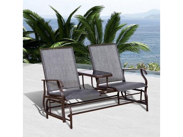 Patio Glider Rocking Chair Bench, Outdoor Glider Patio Set