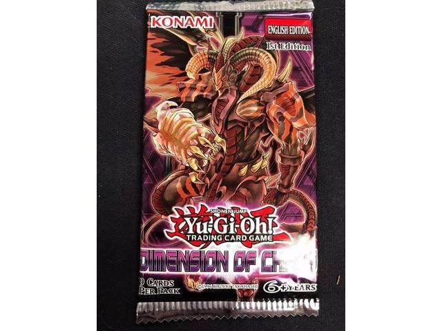 1x yu-gi-oh dimension of chaos booster pack