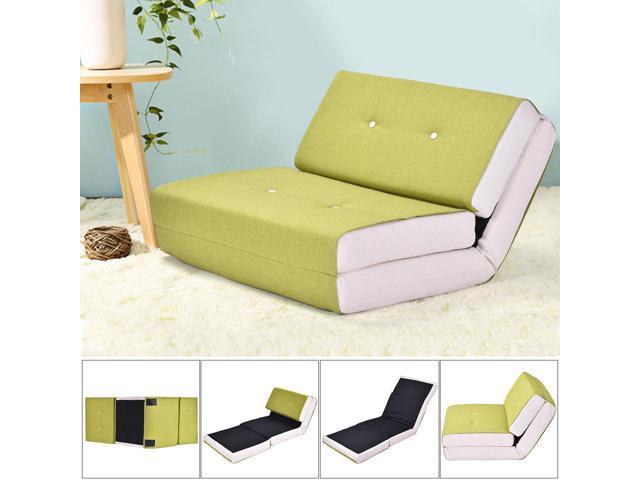 Sensational Fold Down Chair Flip Out Lounger Convertible Sleeper Bed Couch Game Dorm Green Creativecarmelina Interior Chair Design Creativecarmelinacom