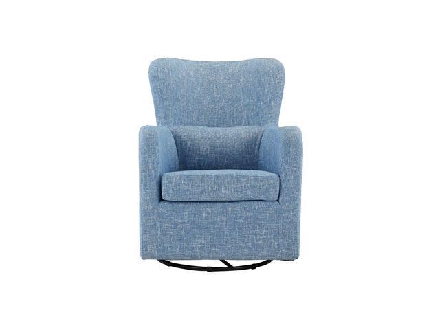 Cool Living Room Home Decor Armchair Rotating Swivel Accent Chair Linen Light Blue Newegg Com Short Links Chair Design For Home Short Linksinfo