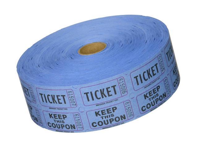Blue Double Raffle Ticket Roll 2000 Blue