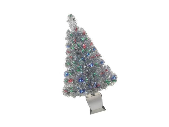 Colorful Fiber Optic Silver Artificial Christmas Tree 32