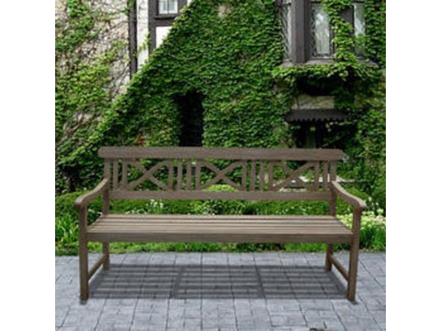 Amazing Vifah Renaissance Outdoor Hand Scraped Hardwood Bench V1299 Bench New Newegg Com Ocoug Best Dining Table And Chair Ideas Images Ocougorg