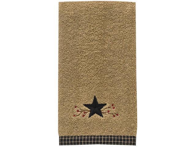 Country Primitive Star Vine Terry Fingertip Towel Farmhouse Pip Berry Decor