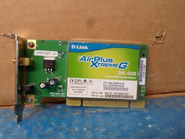 D-LINK WIRELESS LAN CARD DWL-G520 DRIVERS WINDOWS XP