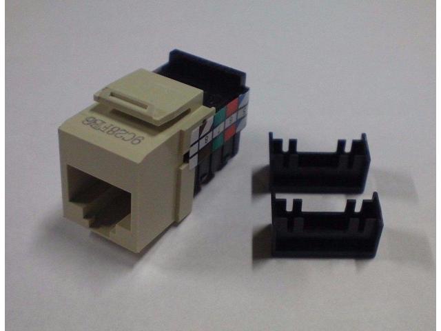 leviton 8 wire phone jack rj45 telephone 41108 ri8 new. Black Bedroom Furniture Sets. Home Design Ideas