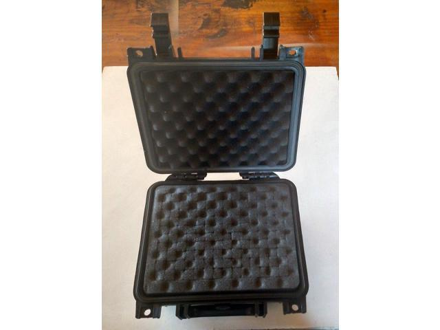 "Pelican 1200-000-110 type Case,Weatherproof Black,With Foam 10.5/""x9.5/""x5/"" 24125"
