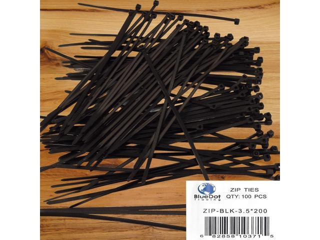 "200 Pack Lot Pcs 8/"" Inch UV Resistant Nylon Cable Zip Wire Tie 40 lbs Black"