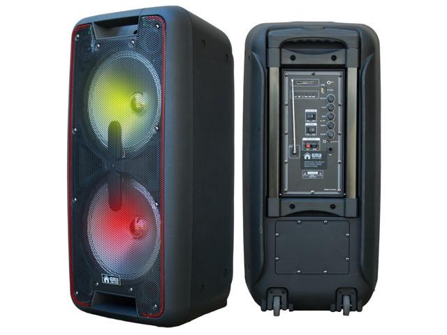 "EMB DUAL 10/"" 2000 Watts Portable Powered DJ Party PA Speaker w// Bluetooth USB"