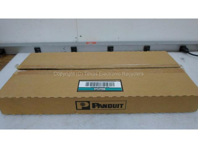 """New Panduit WMPSE PatchLink Horizontal 19/"""" Cable Manager Front Rear 1RU Double"""
