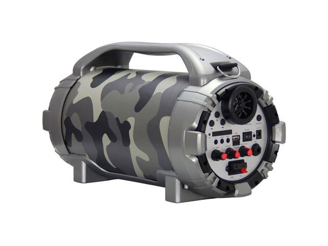 Blackmore 750W Portable Rechargeable Bluetooth Speaker with Mic Input in  Camo - Newegg com