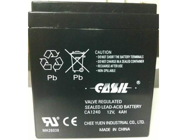 ADT 804302 Casil/Neptune 1240 ADT First Alert 12VDC 4AH Alarm System  Battery - Newegg com