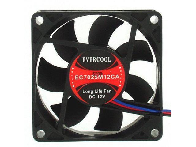 EVERCOOL EC7025M12CA 70mm x 70mm x 25mm 3pin Ballbearing Fan