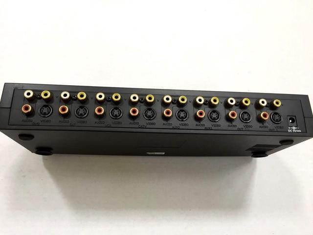 6 in 2 Out S-Video Audio Video Selector Switch w//REMOTE Control GOLD Plated RCA