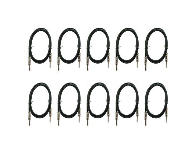 10 pack 3ft premium guitar effect pedal instrument shielded 1  4 patch cable cord