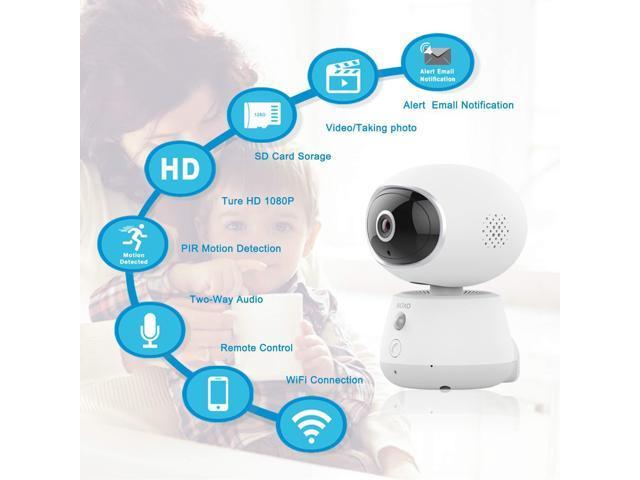 Pet Monitor Camera, Bioxo 1080P HD 2 4G Wireless IP Camera, Night Vision  Camera for Dog/Cat/Baby Monitor Home Security Camera - Newegg com