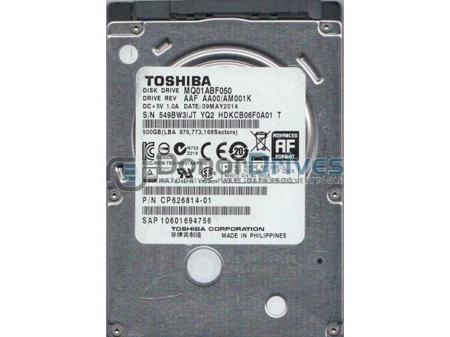 Refurbished: MQ01ABF050, AA00/AM001K, HDKCB06F0A01 T, Toshiba 500GB SATA  2 5 Hard Drive - Newegg com
