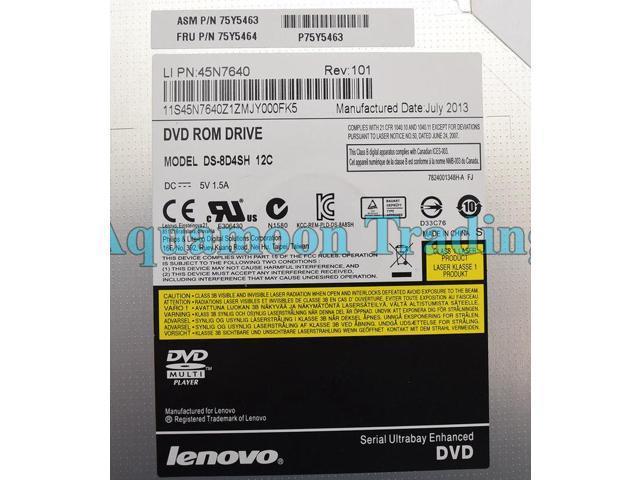 Refurbished: DDU7740H DS-8D4SH Lenovo ThinkPad T430 T450s DVD-Rom 12 7mm  Laptop Optical Drive - Newegg com
