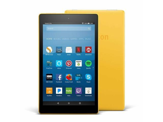 All New Model Amazon Kindle Fire HD 8 Tablet 16 GB Yellow - 2018 Hands Free  - Newegg com