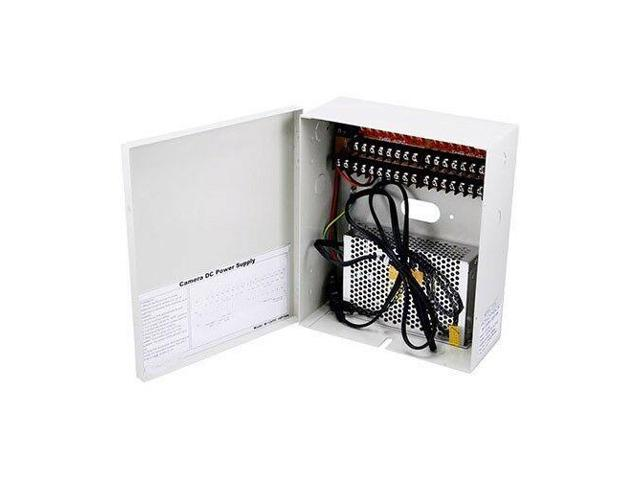 16 Channel 12V DC 10 AMP Security CCTV Camera Power Supply Box 16 PTC on