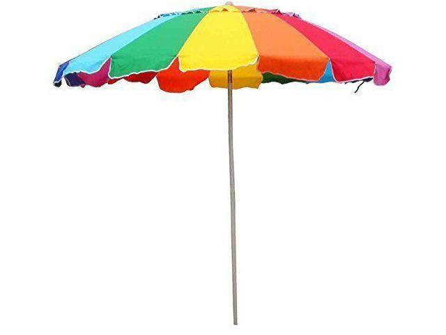 Beach Umbrella Rainbow Color With Carry Bag 8 FootNew Ping Newegg