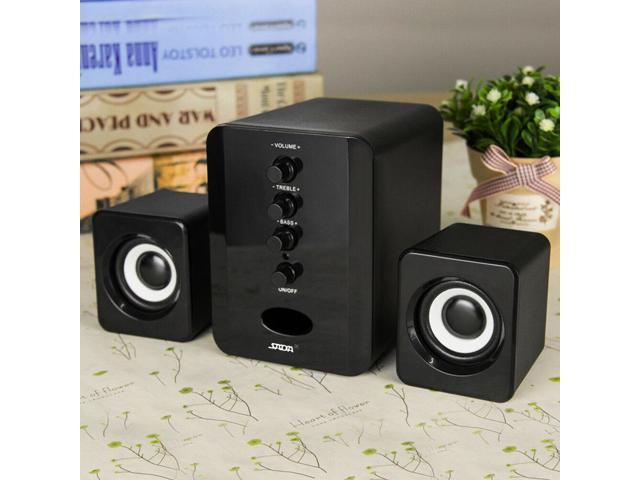 USB Power Computer Speakers PC Desktop Laptop System Subwoofer 3 5mm Jack  I7P5 - Newegg com
