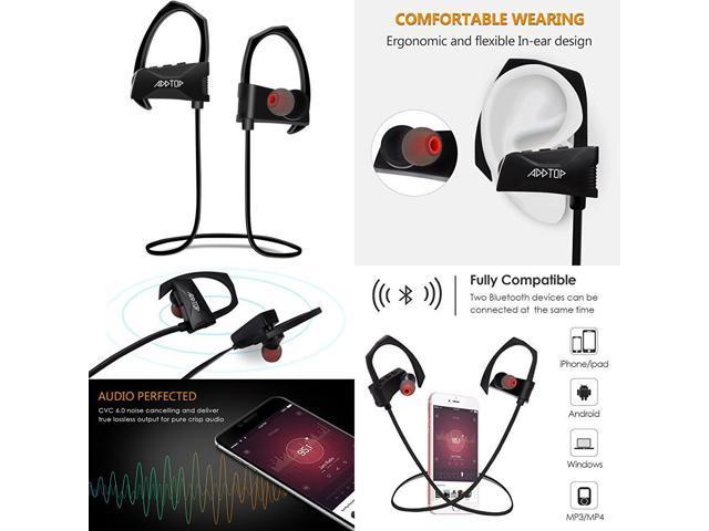 Bluetooth Headphones Sports Earbuds Waterproof & Fast Pairing V4 1  Earphones - Newegg com