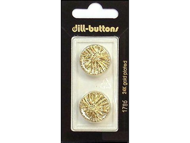 DILL BUTTONS OF AMERICA DIL1786 DILL BUTTONS 20MM 2PC SHANK GOLD -  Newegg com