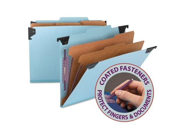 Letter Smead 6 Section Hanging Classification Folder 2 Each Pressboard Blue