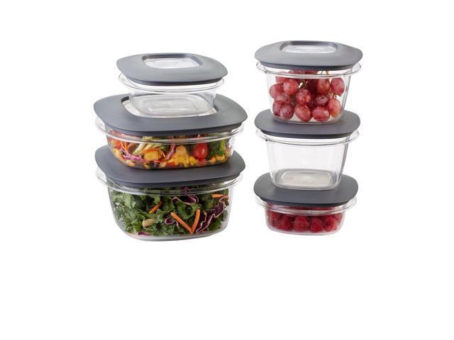 Rubbermaid Premier Food Storage Containers 12-Piece Set Grey - Newegg.com