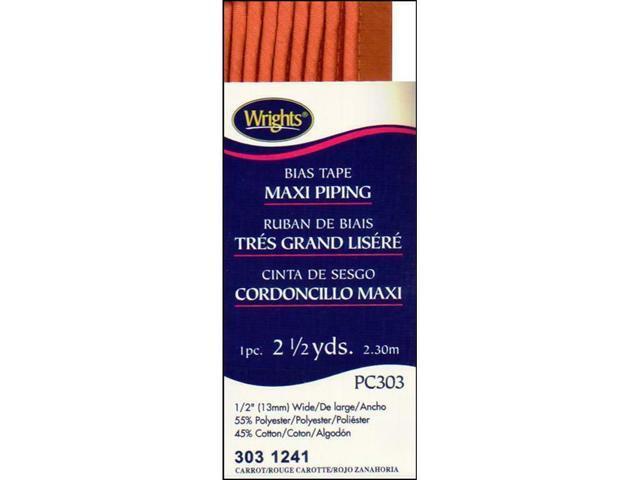 WRIGHTS WRI117-303.1241 WRI117-303 1241 MAXI CORD PIPING 2 5YD CARROT