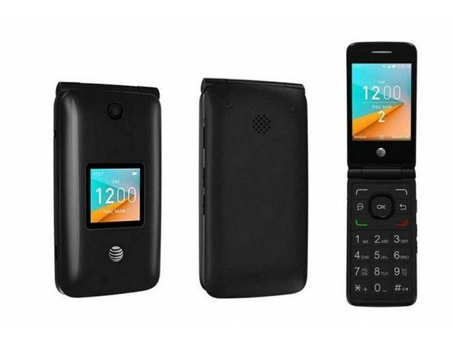 Refurbished: Alcatel Go Flip 2 4044O | 4GB AT&T 4G lte WiFi Flip Phone |  Black - Newegg com