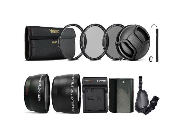 Complete 58mm Lens Accessory Kit + Replacement LP-E6 Battery for Canon  Camera - Newegg com