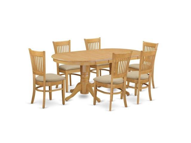 Swell East West Furniture 7 Pc Dining Room Set Table With A Leaf And 6 Dining Chairs Gmtry Best Dining Table And Chair Ideas Images Gmtryco