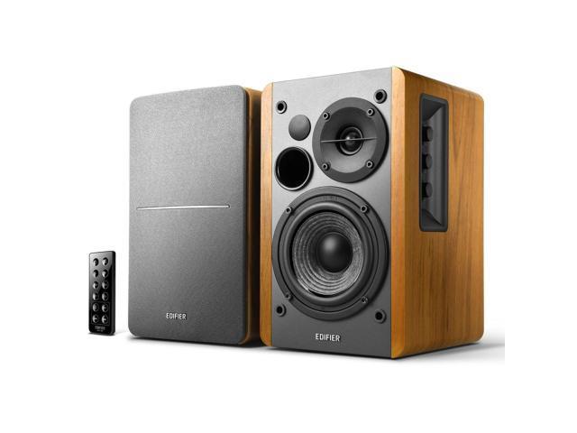 Pair Insignia NS-HBTSS116 Powered Bluetooth Bookshelf Speakers Black Openbox