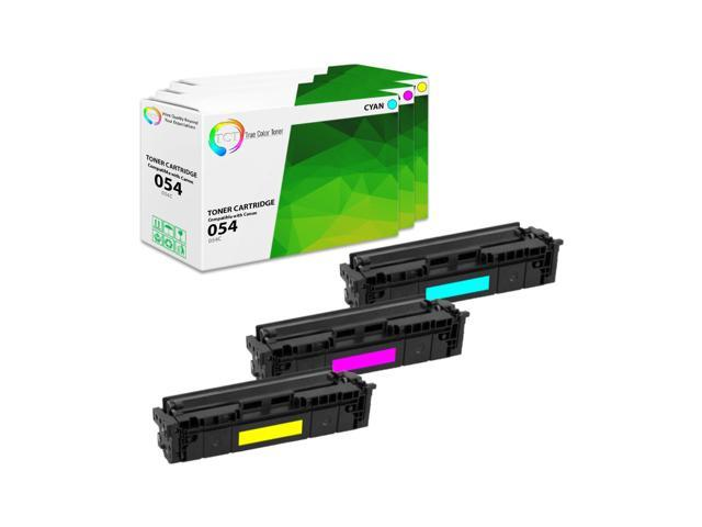 Black, Cyan, Magenta, Yellow TCT Premium Compatible Toner Cartridge Replacement for Canon 054 Works with Canon Color ImageClass LBP620 LBP622Cdw - 5 Pack MF640C MF642Cdw MF644Cdw Printers