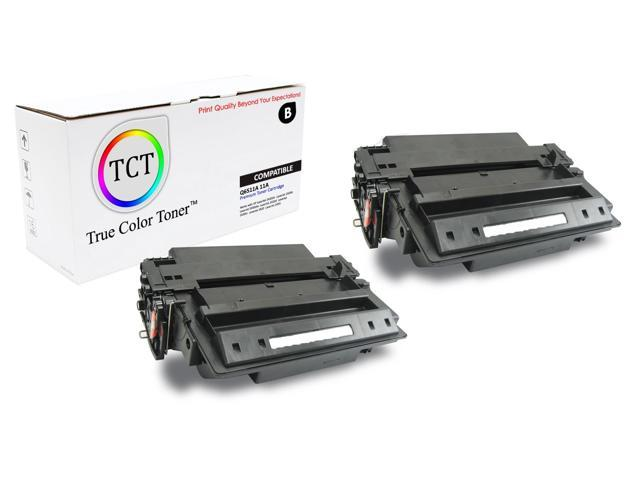 Compatible Laser Toner Cartridge Printer Toner Cartridge use for HP Laserjet Pro 2420DN 2420N 2430 Printer Black Replacement for HP 11A High Capacity Q6511A 2-Pack