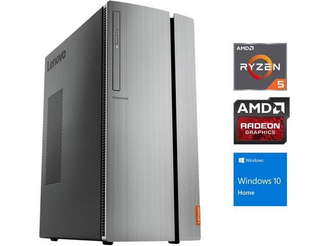 Lenovo IdeaCentre 720 Tower, AMD Quad-Core Ryzen 5 1400 Upto 3 4GHz, 8GB  RAM, 128GB SSD, Radeon R5 340 1GB, DVD-RW, VGA, HDMI, Card Reader, Wi-Fi,