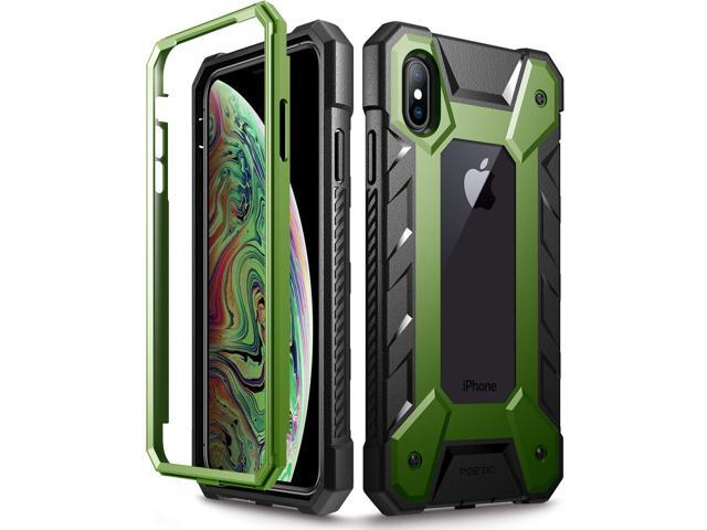 iPhone Xs Max Case, Poetic Journeyman [360 Degree  Protection][Built-in-Screen Protector] Full-Body Rugged Heavy Duty Case for  Apple iPhone Xs Max 6 5