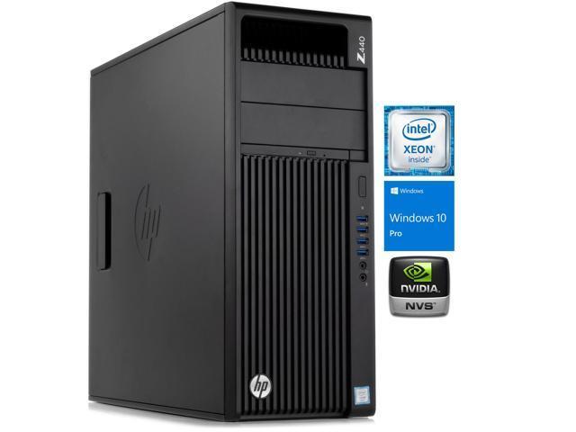 HP Z440 Workstation Desktop, Intel Quad-Core E5-1607 v4 3 1GHz, 64GB RAM,  512GB SSD + 1TB HDD, 2x NVIDIA NVS 310 Graphics, DVD-RW, DisplayPort,  Wi-Fi,