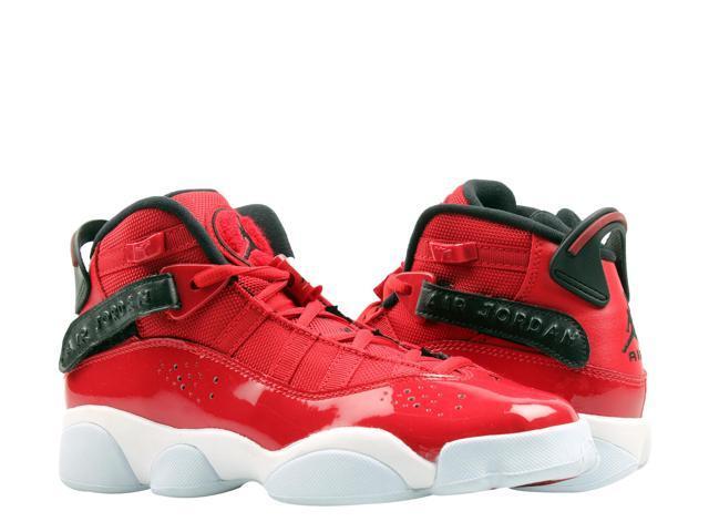 buy popular 7e02f 7cf2c Nike Air Jordan 6 Rings GS Red/Black-White Big Kids Basketball Shoes  323419-601 Size 5.5 - Newegg.com