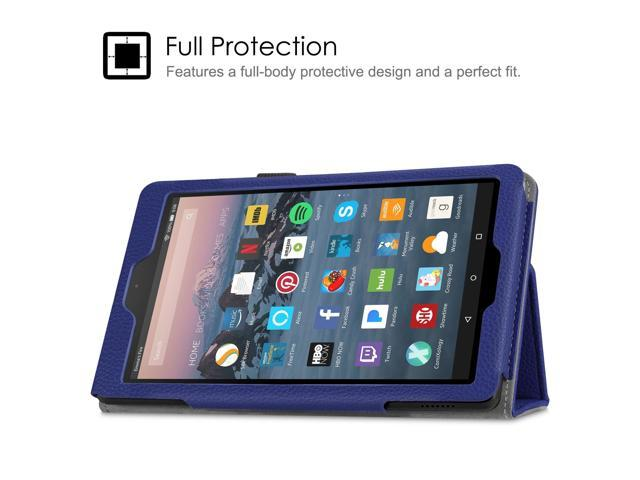 info for 9d35e e309e Case for Fire 7 Tablet (9th Generation, 2019 Release) - Fintie Slim Fit PU  Leather Standing Folio Protective Cover Navy - Newegg.com