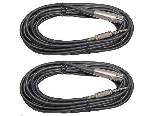 "10ft XLR 3-Pin Female to 1//4/"" Mono Shielded Microphone Mic Cable 3 Pack Lot"