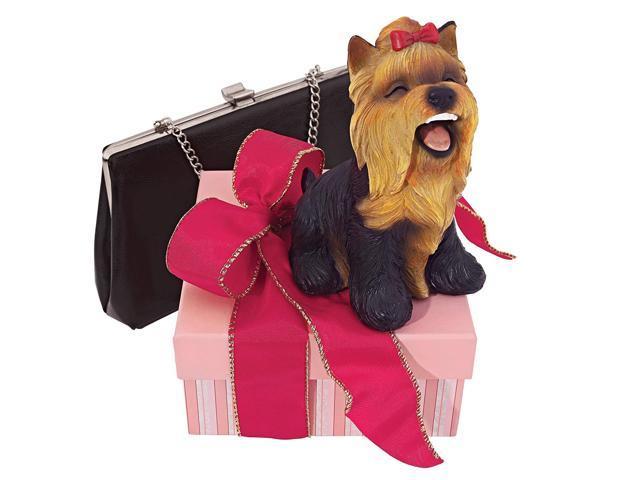 Design Toscano Yip Yap Yorkshire Terrier Puppy Dog Statue