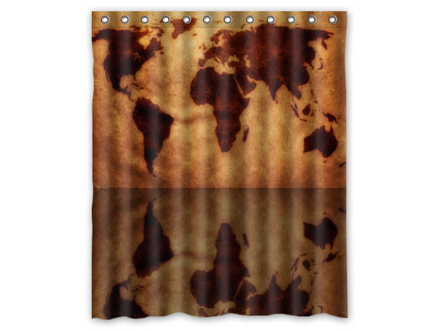 Eco-friendly Waterproof Shower Curtain Colorful World Map Bathroom  Polyester Fabric Shower Curtain 60(w)x72(h)Inch - Newegg.com