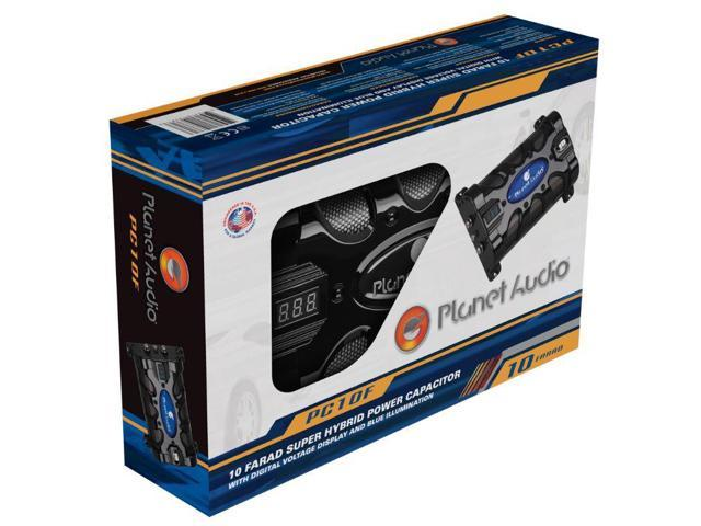 Planet Audio PC10F 10 Farad Capacitor with Digital Voltage Display and Blue  Illumination - Newegg com