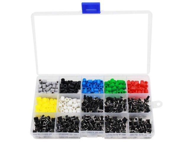 Tactile Push Button Switch Mini Momentary Tact Assortment Kit with Colorful  Button Caps 420 PCS(Switch Button Caps 420 PCS) - Newegg com