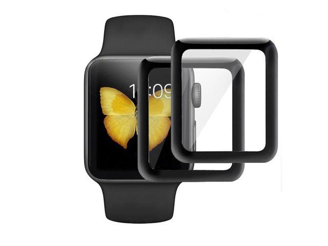 the best attitude 5401d 9dce1 KINPEI for Apple Watch Series 3/2/1 Screen Protector 42mm [2Pack][3D  Tempered Glass Full Coverage][Scratch Resistant][Waterproof] Tempered Glass  Film ...